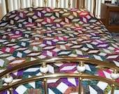 Scrappy Batik Queen Quilt