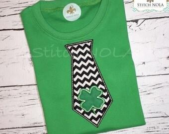 St. Patrick's Day Shamrock Tie Shirt
