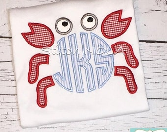 Crab Monogram T-Shirt or Bodysuit