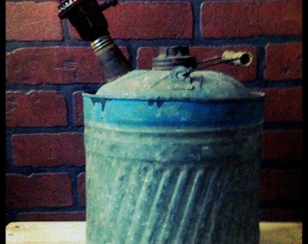 Steampunk Repurposed Antique Gasoline Can Lamp