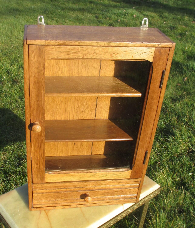 vintage wood apothecary bathroom medicine wall cabinet