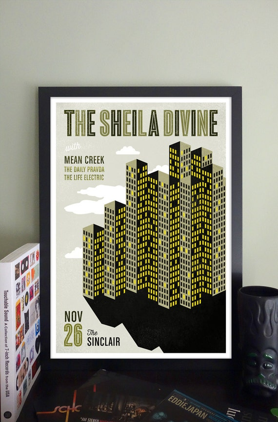 The Sheila Divine Gig Poster // The Sinclair, Cambridge, MA