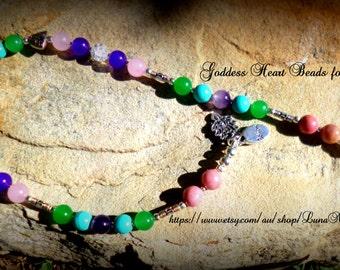 Goddess Heart Prayer Beads