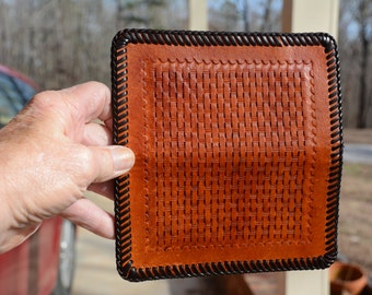Light Brown Leather Checkbook Cover