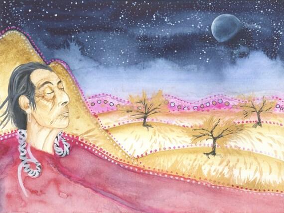 Soles De Piedra Fundraiser Disseminating Moon Art Print