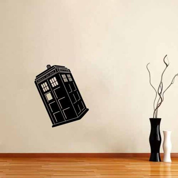 tardis dr doctor wall decal vinyl room police the box