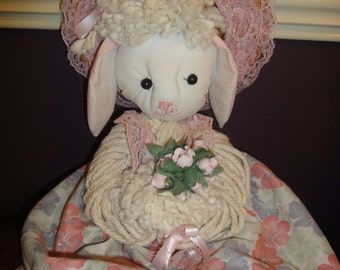 A Handmade Mop Bunnie/Mop Bunnie Doll /Arts and Crafts/Toys/Plush Bunnies/Stuffed Toys/Handmade Sewing and Textile