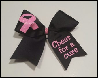 Cheer for a cure Breast Cancer Cheer Bow