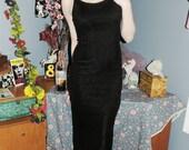Vintage Sparkly Black Dress