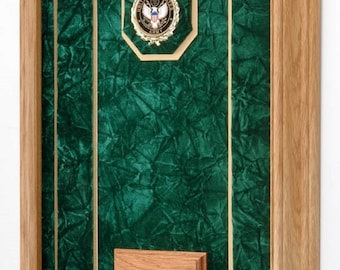 "Military Medals Display Shadow Box - 12""x16"""