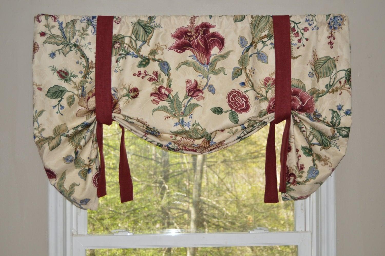 Window Treatment Waverly Valance Floral Window Valance Swag