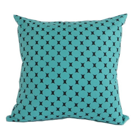 Mid Century Lumbar Pillow : Mid Century Modern 17 sq. pillow turquoise by PillowsByDwellissimo