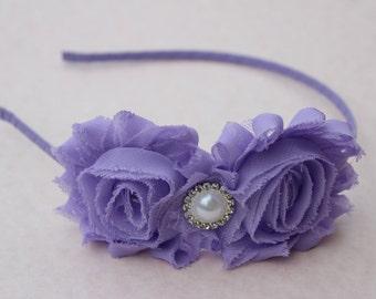 lavender girls headband purple flower girl headband metal headband toddler purple headbands hard headband light purple wedding headband