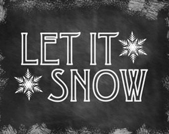 Let It Snow Metal Sign, Christmas, Holiday Decor, 4034