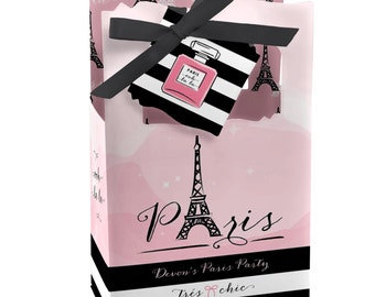 12 Paris Favor Boxes - Custom Baby Shower and Birthday Party Supplies