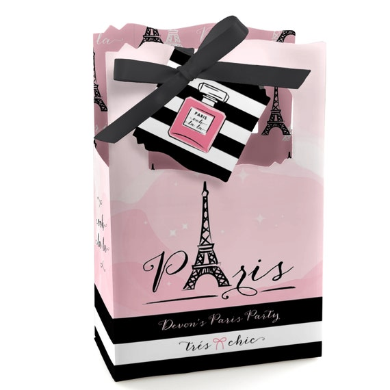 Personalized Party Favor Boxes Birthday : Paris favor boxes custom baby shower and birthday party