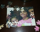 Custom Photo Jigsaw Puzzle 5x7 customize by adding personal note or quote perfect gift for all ages and occasions
