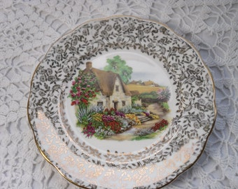 Three English Country Garden Scene TeaPlates