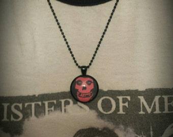Black Misfits Skull Necklace