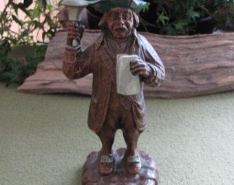 Syroco Wood's Town Crier Figurine
