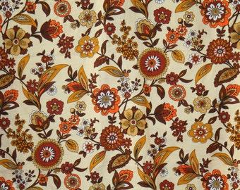 Tall furniture dyed fabric flower beige, brown, orange. 120 cm X 220 cm