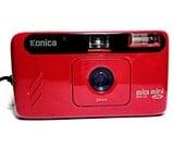 Lomo Alert --- Rare Red Konica Big Mini Jr. BM-20 -- Lomo Alert