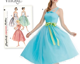 Simplicity Sewing Pattern 1194 Misses' and Miss Petite Vintage Dress