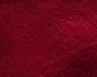 Remnant - Solid Red Anti-Pill Fleece Fabric Remnant 21 Inches