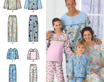 Child's, Teens' & Adults' Sleepwear Simplicity Pattern 2481