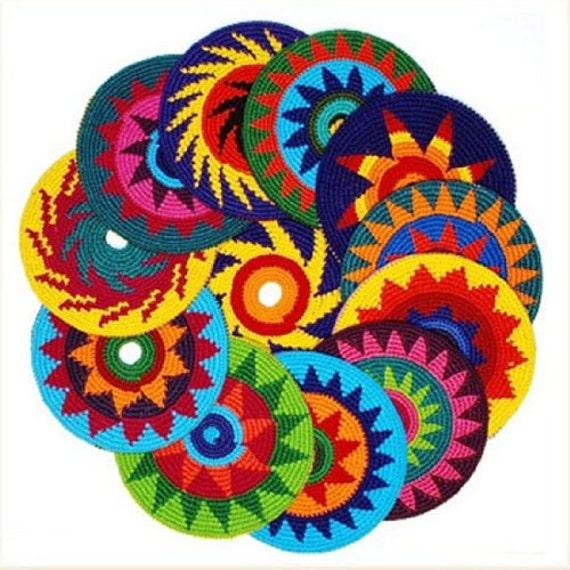 Handmade Crochet Frisbee Indoor Flying Disk