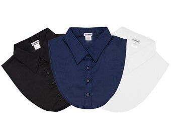 IGotCollared Dickey Collars - 3-Pack in Navy, Black and White, aka Detach Collar, Detachable Collars, Dickies, Dicky Collar, Blouse Collar