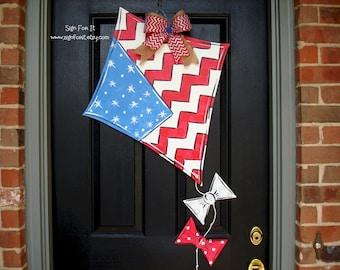 Patriotic Kite Door Sign
