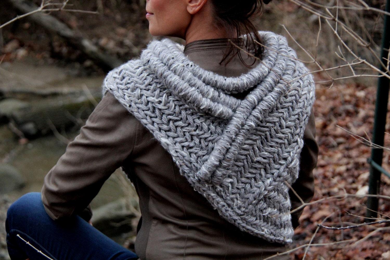 Katniss Inspired Cowl Knitting Pattern : Katniss inspired post apocalyptic huntress cowl vest shawl