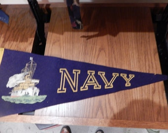1910-20 Navy Pendant Banner