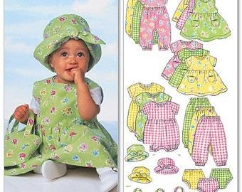 Butterick Pattern B5624 Infants' Dress, Jumper, Romper, Jumpsuit, Panties, Hat and Bag