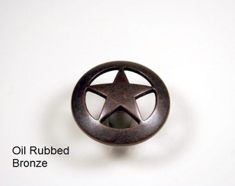 Western Style Star Knob - Available in 4 Finishes