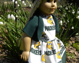 Items similar to 3 pc brand new handmade coat set 18 for Green bay packers wedding dress
