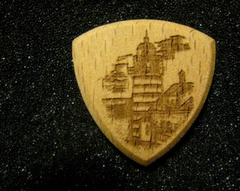 Wooden Guitar Pick Maine Lighthouses