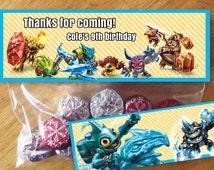 Skylanders Trap Team Birthday treat goody bag topper Digital Download