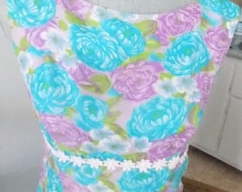 Sale Vintage 60's Floral Long Dress