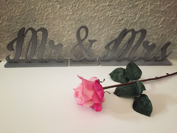 Mr & Mrs Sign, Freestanding Mr and Mrs sign, Mr and Mrs Wedding Sign, Mr. Mrs. Sweet Heart Table Sign, Mr and Mrs Home Decor