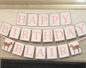Pony Birthday Party Banner Horse Birthday Banner Western Birthday Party Banner Country Birthday Banner Horse Theme Party Pony Theme Party