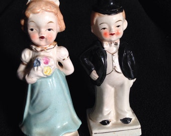Vintage made in Japan two-sided salt-and-pepper