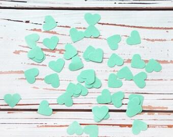 heart confetti mint