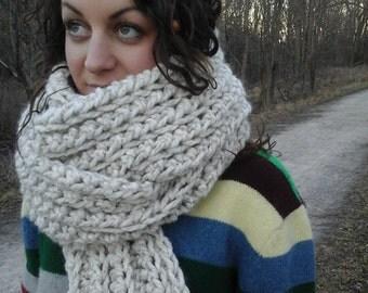 The Longevity Scarf - Extra long crochet scarf, long scarf, long bulky scarf, long chunky scarf, extra long scarf