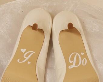 I Do Wedding Shoe Decals, High Heel Decals, Shoe Decals for Wedding, Wedding Shoe Decals, Heart Shoe Decals, Vinyl Shoe Decal, I Do