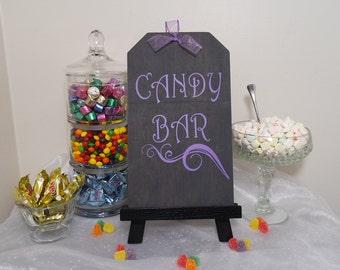 Candy Bar Wedding Sign, Laffy Taffy Purple Candy Bar Wedding, Candy Bar Birthday Sign, Shabby Chic Sign, Candy Bar Sign, Rustic Wedding Sign