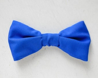 Solid Blue Bow Tie