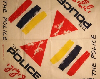 THE POLICE Synchronicity concert tour 1984 script headwrap kerchief