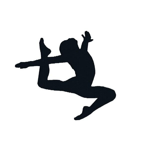 Buy 2 get 1 free filled gymnastics silhouette machine - Dessin gymnaste ...